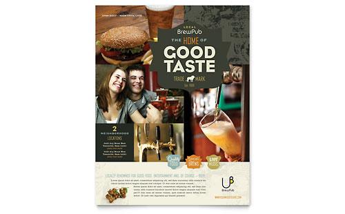 Brewery & Brew Pub Flyer Template