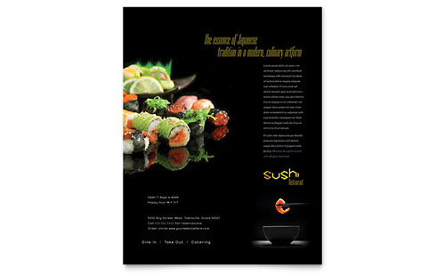 Sushi Restaurant Flyer Template
