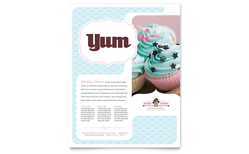 Bakery & Cupcake Shop Flyer Template