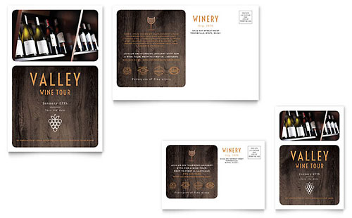 Winery - Postcard Template