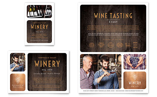 Winery - Print Ad Template