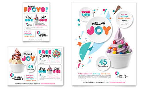 Frozen Yogurt Shop - Flyer & Ad Template