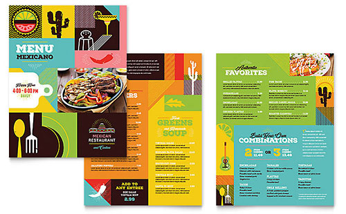 Mexican Restaurant - Graphic Design Menu Template