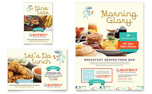 Family Restaurant Flyer & Ad Template