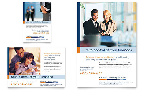 Financial Planning & Consulting Flyer & Ad Template