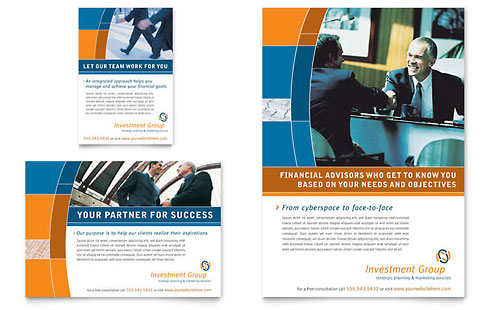 Investment Services Flyer & Ad Template