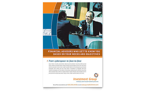 Investment Services Flyer Template