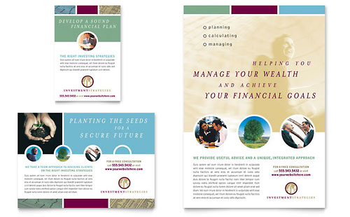 Financial Consulting Flyer & Ad Template