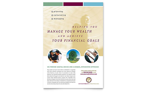 Financial Consulting Flyer Template