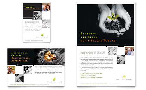 Wealth Management Services Flyer & Ad Template