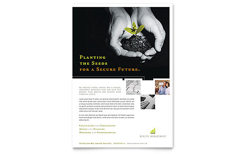 Wealth Management Services - Flyer Template