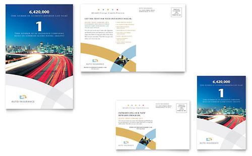 Car Insurance Company Postcard Template