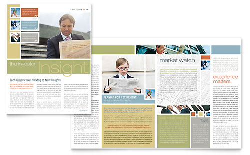 Investment Advisor - Newsletter Template