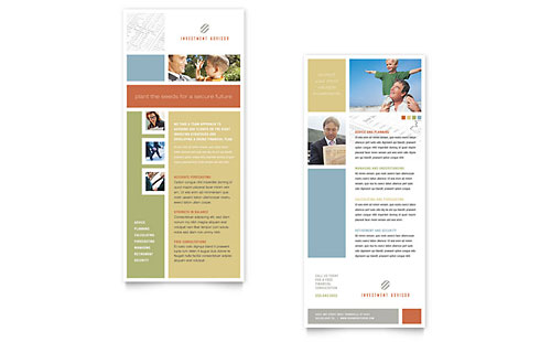Investment Advisor Rack Card Template