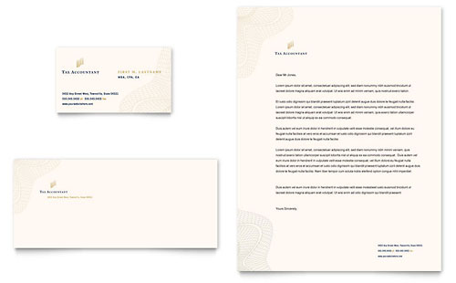 CPA & Tax Accountant Business Card & Letterhead Template