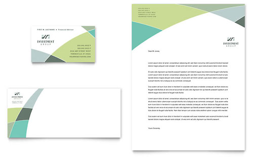Financial Advisor Business Card & Letterhead Template