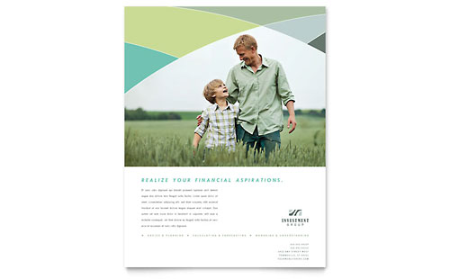 Financial Advisor Flyer Template