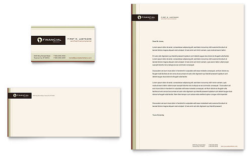Financial Planner Business Card & Letterhead Template