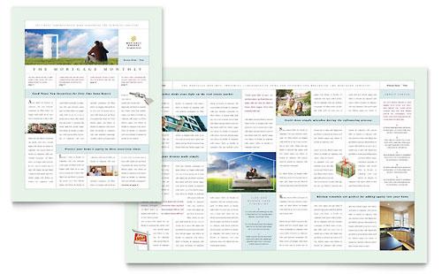 Mortgage Lenders Newsletter Template