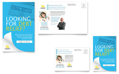 Consumer Credit Counseling Postcard Template
