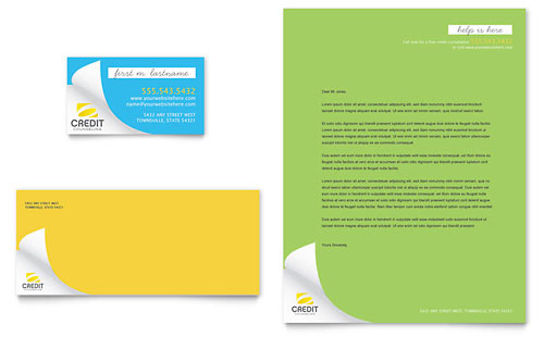Consumer Credit Counseling Business Card & Letterhead Template
