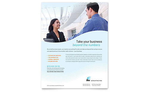 Accounting Firm Flyer Template
