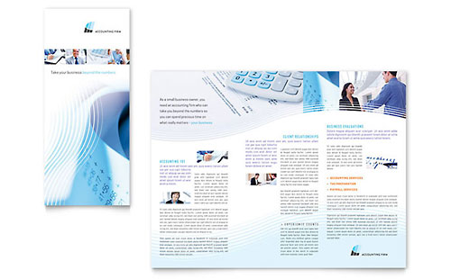 Accounting Firm - Tri Fold Brochure Template