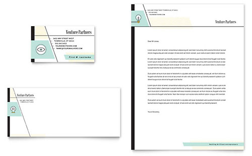 Venture Capital Firm Business Card & Letterhead Template