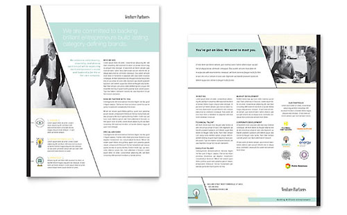 Venture Capital Firm Datasheet Template