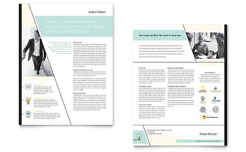 Venture Capital Firm Sales Sheet Template