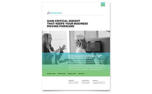 Auditing Firm Leaflet Template Design