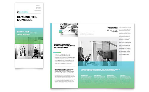 Auditing Firm Tri Fold Brochure Template