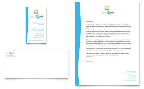Beauty Spa Business Card & Letterhead Template