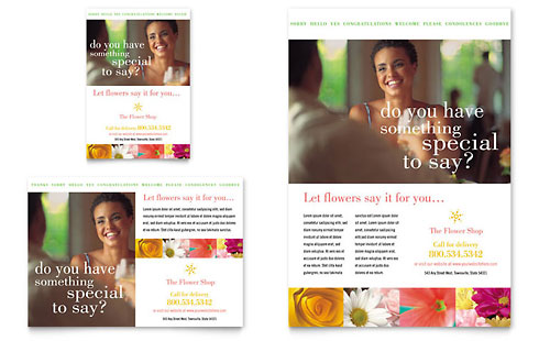 Florist Shop Flyer & Ad Template