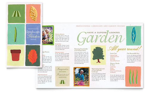 Garden & Landscape Design Brochure Template