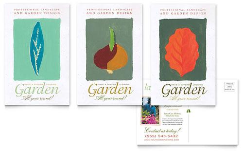 Garden & Landscape Design Postcard Template
