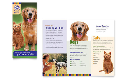 Dog Kennel & Pet Day Care - Brochure Template