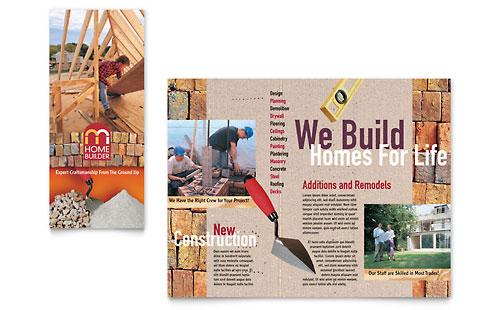 Home Builder & Contractor Brochure Template