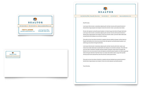 Real Estate Agent Business Card & Letterhead Template