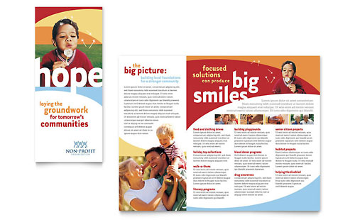 Community Non Profit Brochure Template