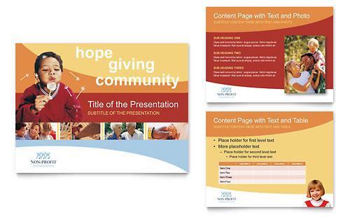 Community Non Profit PowerPoint Presentation Template