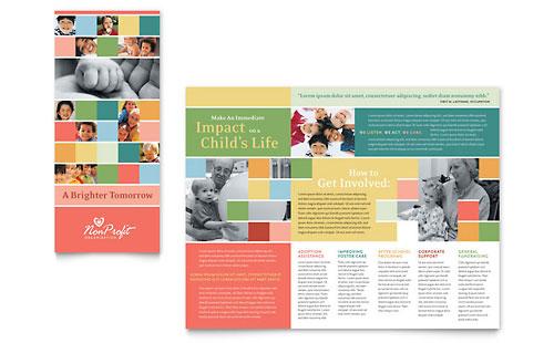 Non Profit Association for Children Brochure Template