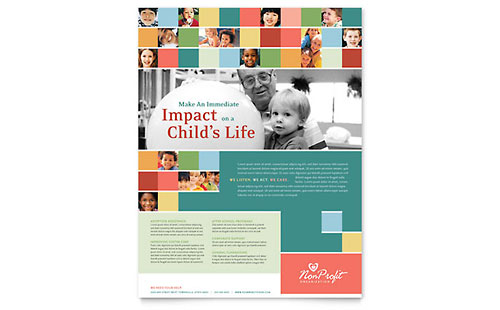 Non Profit Association for Children Flyer Template