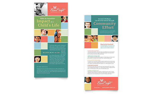 Non Profit Association for Children Rack Card Template