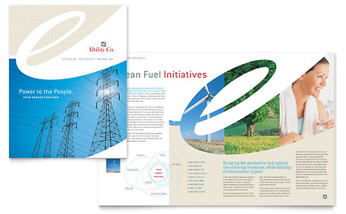 Utility & Energy Company Brochure Template