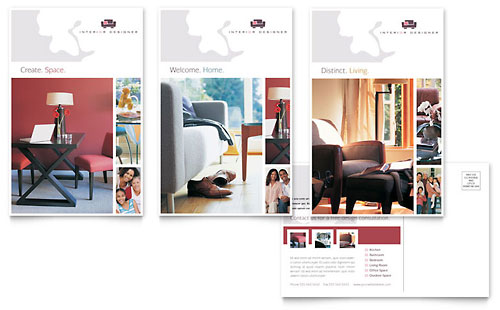 Interior Designer Postcard Template