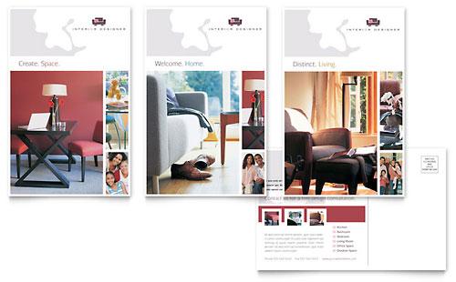 Interior Designer Postcard Template