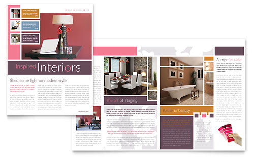 Interior Designer Newsletter Template