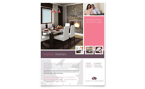 Interior Designer Flyer Template