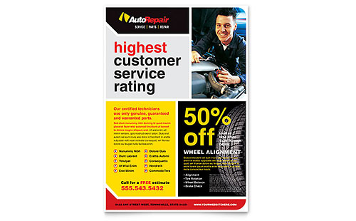 Auto Repair - Flyer Template
